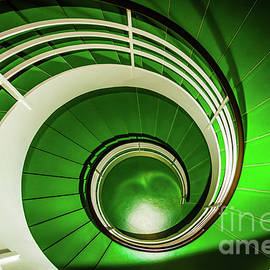 Green circular stairway by Lyl Dil Creations