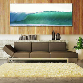 Green Feather 18 x 60 inch canvas by Sean Davey