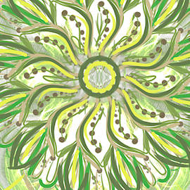 Green floral design by Elaine Angeles