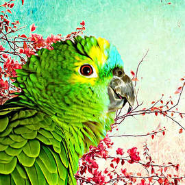 Green Parrot Profile by Trudee Hunter