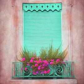 Green Shuttered Window Geneva Old Town  by Carol Japp