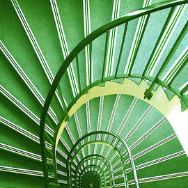 Green Stairs by Pat Turner