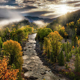 Gros Ventre River Light by Leland D Howard