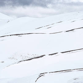 GSD Snow Covered Dunes 4340 by Bob Neiman