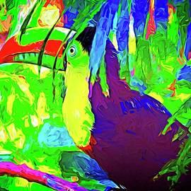 Hidden Toucan Abstract by Alice Gipson