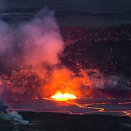 Halemaumau Crater Lava Lake by Gary Miyata