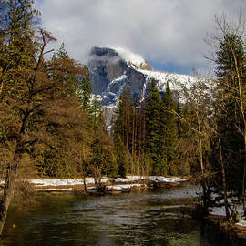 Half Dome in Winter by Norma Brandsberg