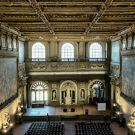 Hall of Five Hundred Florence Italy by Joan Carroll
