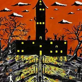 Halloween Walking Dead Heads by Jeffrey Koss