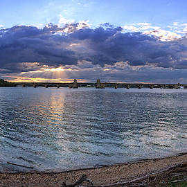 Hanover Street Bridge Port Covington Panorama by Bill Swartwout Photography