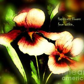 Happiness Blooms From Within by Hazel Holland