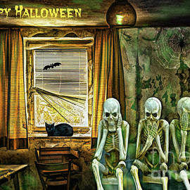 Happy Halloween Skeletons by Tina LeCour