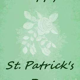 Happy St. Patrick's Day Holiday Card by Delynn Addams