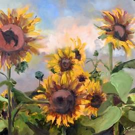Happy Sunflower Faces by Donna Tuten