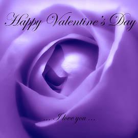 Johanna Hurmerinta - Happy Valentines Day With Soft Purple Rose