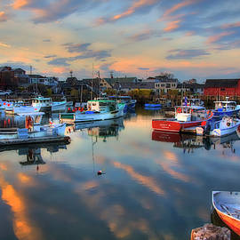 Harbor Sunset in Rockport Ma by Joann Vitali