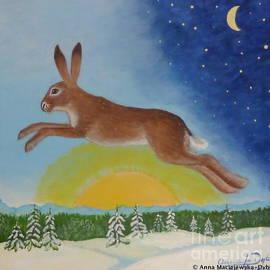 Hare's Leap Into New Year by Anna Folkartanna Maciejewska-Dyba