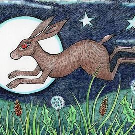 Hares Lunar Leap by Kerina Strevens