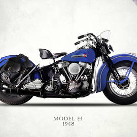 Harley-davidson El 1948 by Mark Rogan