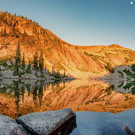 Harrison Lake Panoramic by Leland D Howard