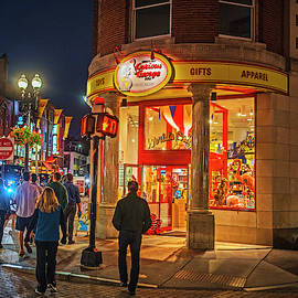 Harvard Square Nightlife Cambridge Ma by Toby McGuire