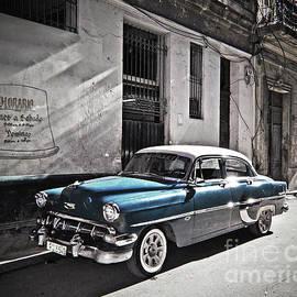 Havana, Cuba - Blue Beauty by Chris Andruskiewicz