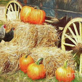 Hay Bale Harvest by Tina LeCour