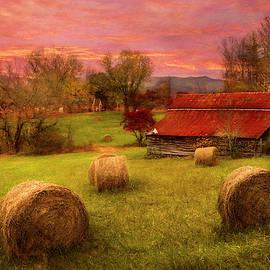 Hay Barn in Watercolors by Debra and Dave Vanderlaan