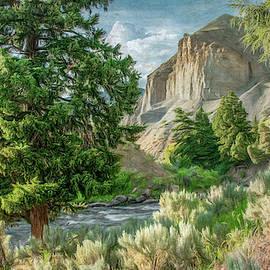 Headed into Yellowstone Canyon, Painterly by Marcy Wielfaert