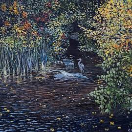 Heron, Somes Brook, Somesville, Maine by Eileen Patten Oliver