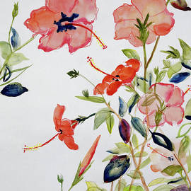 Hibiscus Flowerpiece By Sir Roy Calne by Sir Roy Calne