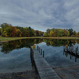 Higgins Lake South State Park Boat Ramp Reflections by Ron Wiltse