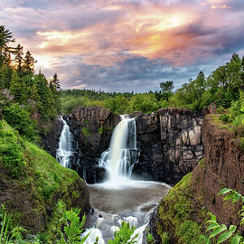 High Falls Grand Portage by Stephen Burroughs
