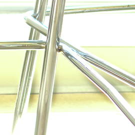 High Key Chrome Chair Legs Abstract by Bonnie See
