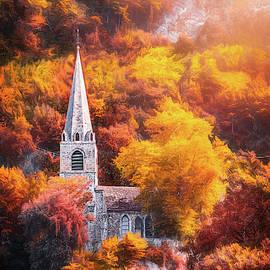 Hillside Church Montreux Switzerland  by Carol Japp