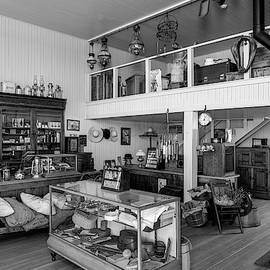 Hindsman General Store - Allensworth State Park - Black And White by Gene Parks