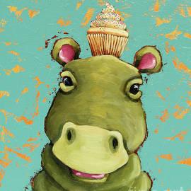 Hippo in Vanilla by Lucia Stewart