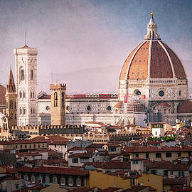 Historic Core of Florence Italy by Joan Carroll