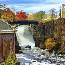 Historic Great Falls and Mill Autumn Landscape  by Regina Geoghan