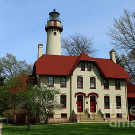 Historic Grosse Point Lighthouse by Christiane Schulze Art And Photography