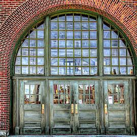Historic Liberty Island State Park terminal entrance by Geraldine Scull