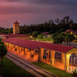 Historic Train Depot in Venice, Florida by Liesl Walsh
