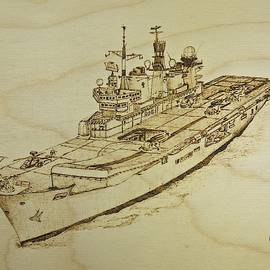 HMS Illustrious Helicopter Carrier by Brian Case