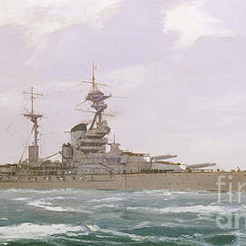 Hms Resolution, 1923 by Duff Tollemache