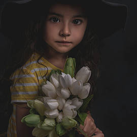 Holding The Tulips by Teresa Blanton
