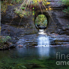Hole In The Rock Waterfall by Bob Christopher