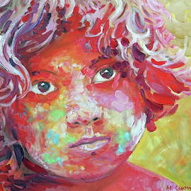 Holi boy. Colorful. Colorful And Monochromatic Series pastel tone. by SurfArtTango Marina Lisovaya
