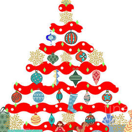 Holiday Tree Art by Diann Fisher