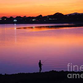 Hollingworth Lake Sunset by David Birchall