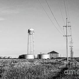 Holly Beach Water Tower -BW by Scott Pellegrin